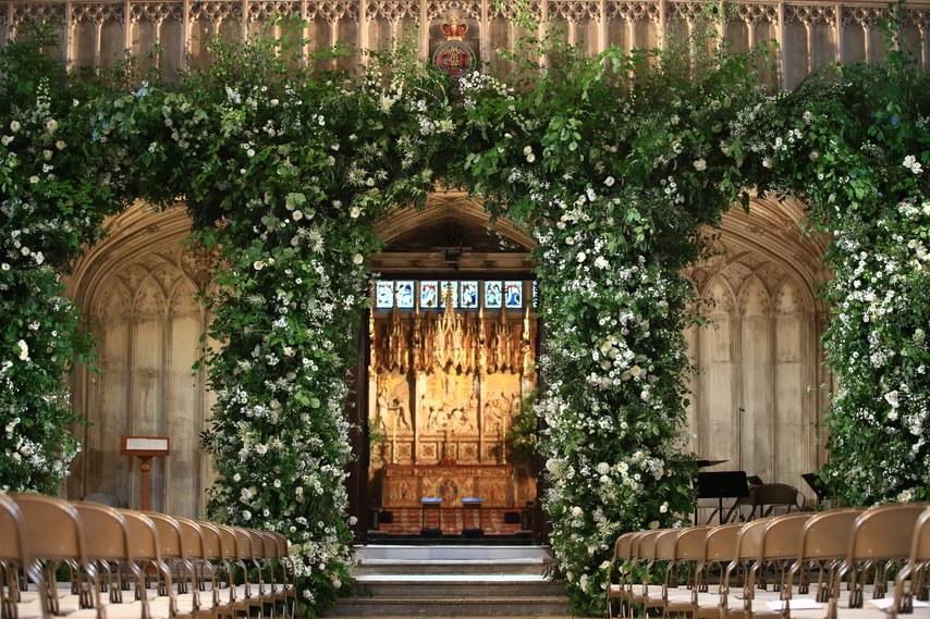 Greenery Dekoráció a Királyi Esküvőn