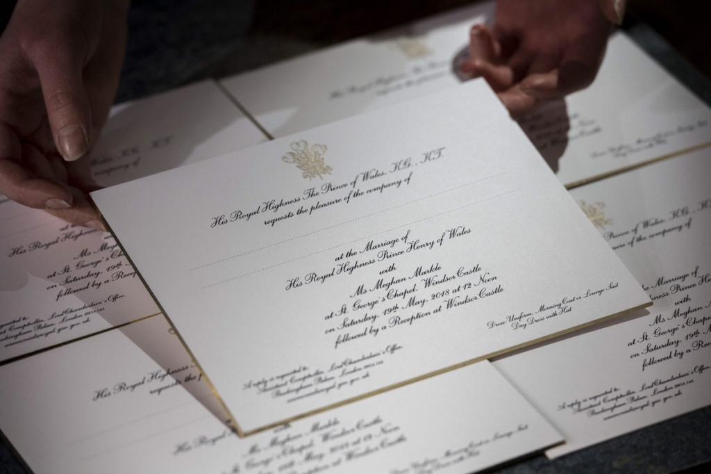 Harry és Meghan Esküvői Meghívó