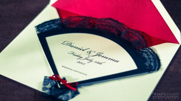 Legyező Ötletes esküvői meghívó