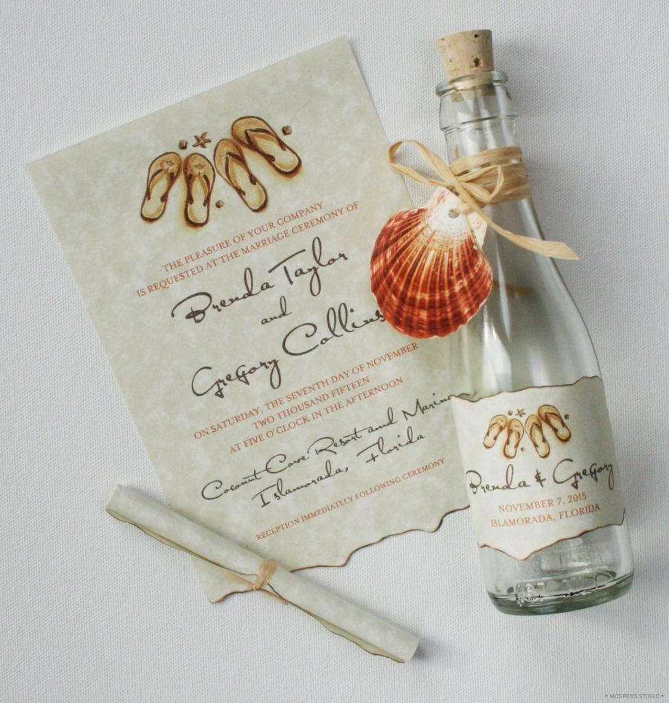 Üveges Ötletes esküvői meghívó