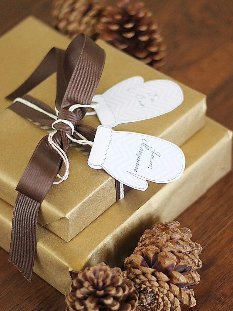 Karácsonyi ajándékkísérő kesztyű