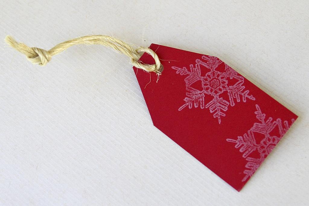 Karácsonyi ajándékkísérő kártya