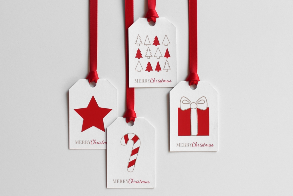Karácsonyi ajándékkísérő címke