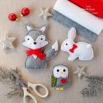 Karácsonyi díszek filcből – 12+1 ötlet