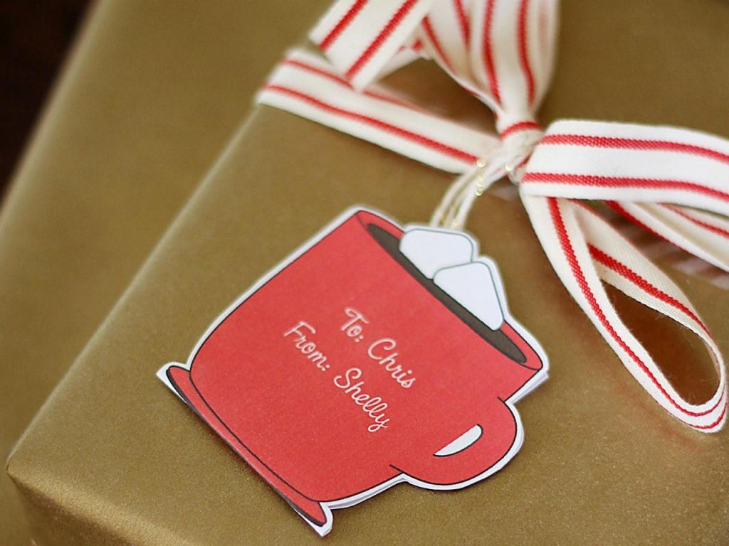 Szerkeszthető karácsonyi ajándékkísérő