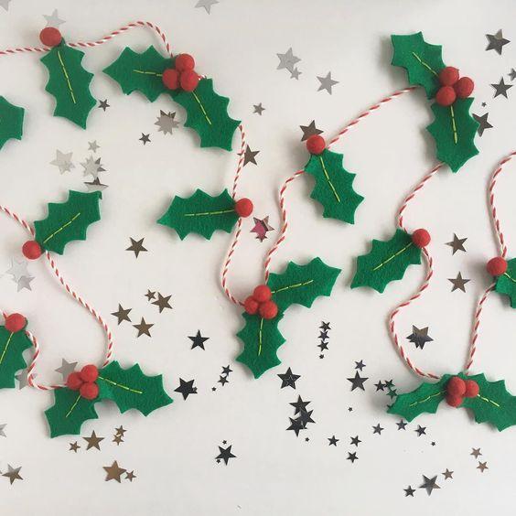 Karácsonyi díszek filcből