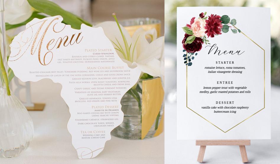 Esküvői menükártya: 3 ok, amiért szükséged lehet rá